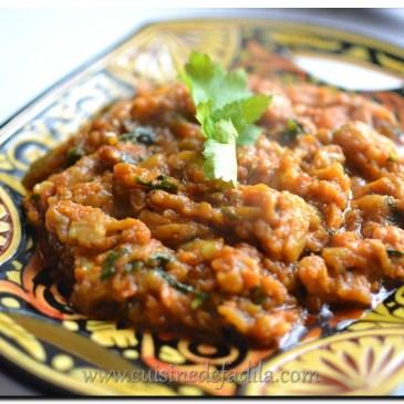 Zaalouk ou salade d'aubergine grillée Marocaine : recette en vidéo