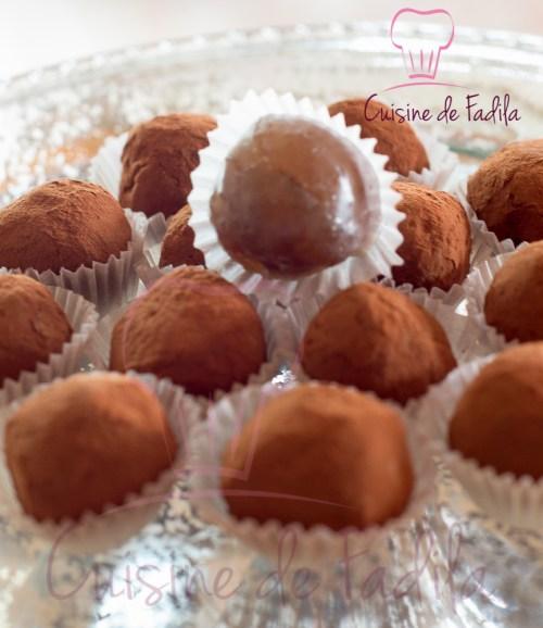 truffes aux  marron glacés