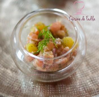tartare de saumon aux agrumes et gingembre -0386