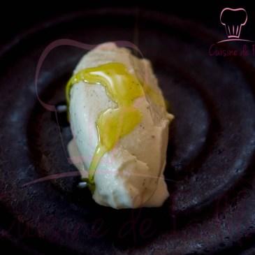 Crème glacée vanille et huile d'olive
