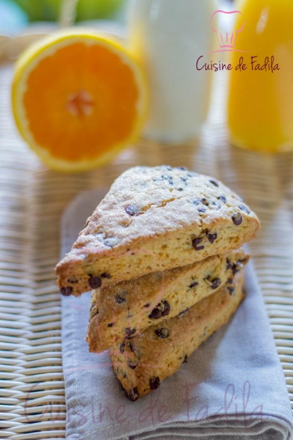scones chocolat orange