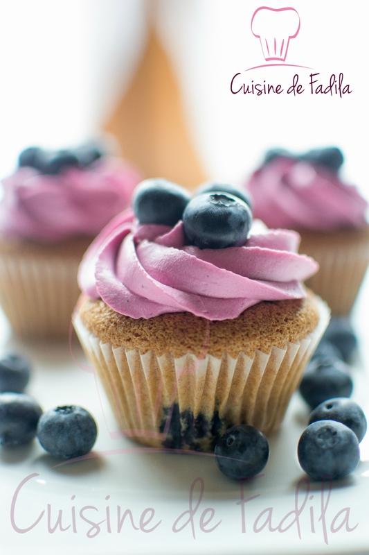 cupcake myrtille