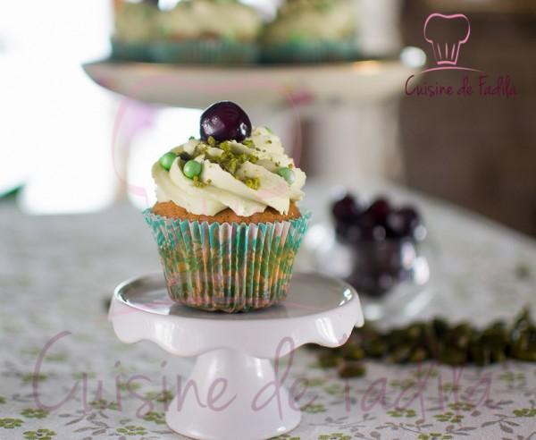 cupcakes pistache cerise amarena