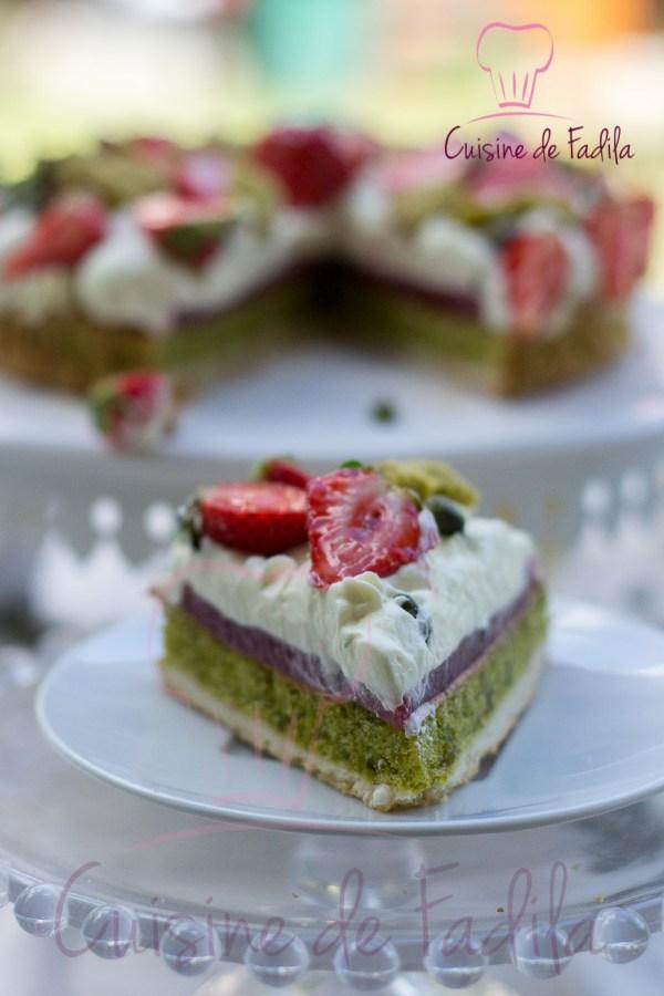 Fantastik pistache yuzu et fraise