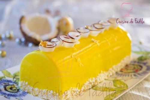bûche citron coco