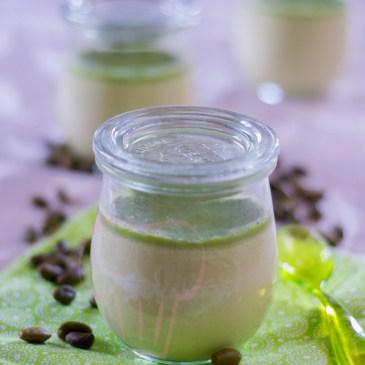 Crème aux oeufs et pistache à la vapeur