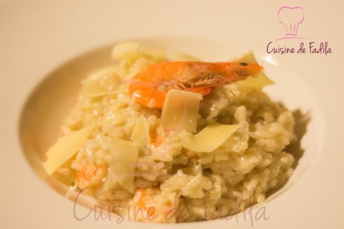 risotto aux crevettes