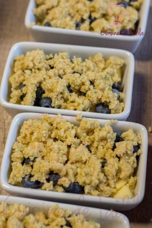 Crumble pomme myrtille et flocons de millet (2 sur 9)