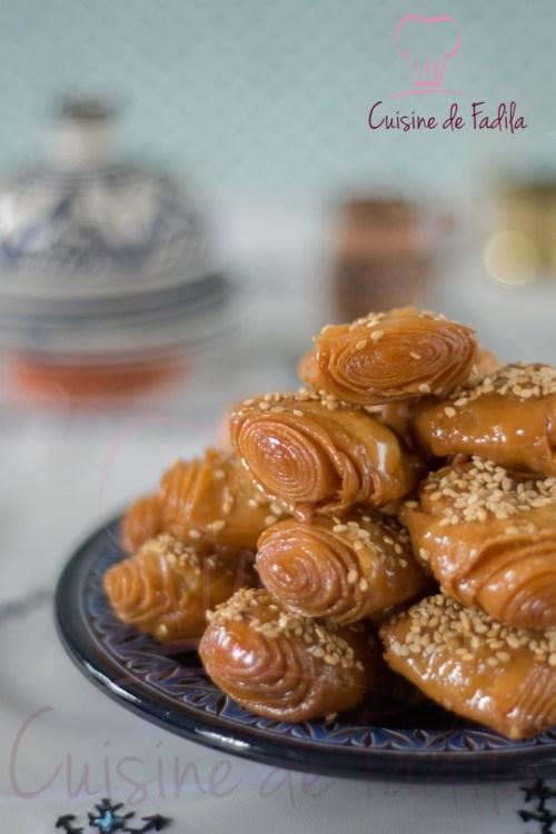 Rghaifs feuilletées au miel