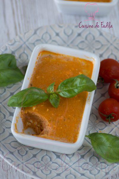 Flan de tomates basilic fêta