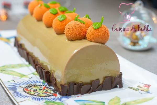 bûche chocolat au lait orange
