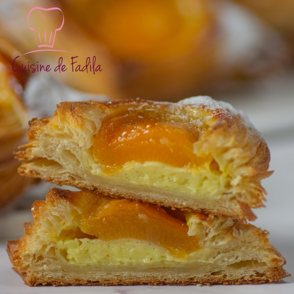 carrés feuilletés aux abricots