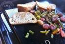 Montadidos de chorizo Espagnol, poivrons et poivronnade1