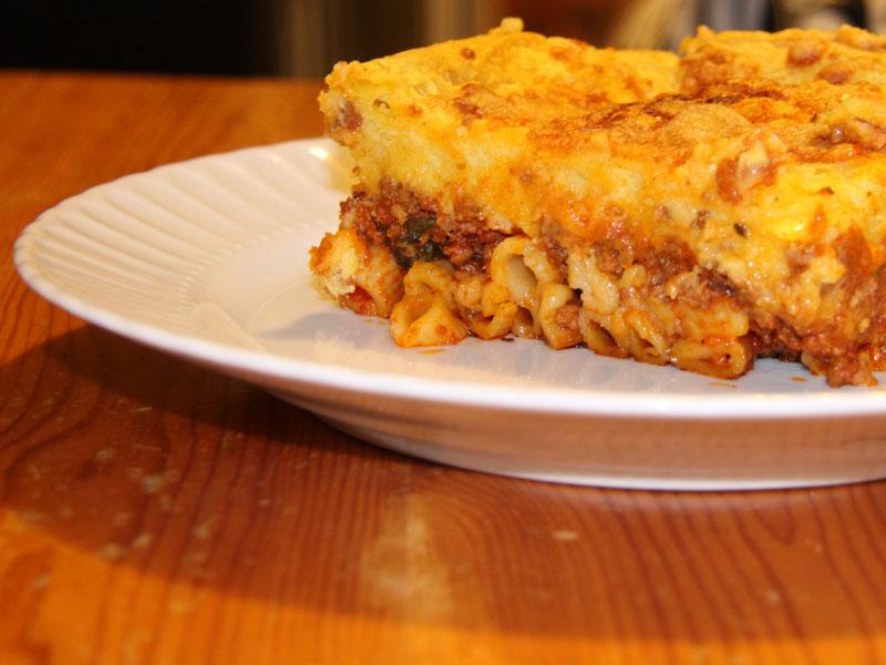 Recette : le pastitsio grec ( entre les lasagnes et le gratin de pâtes)