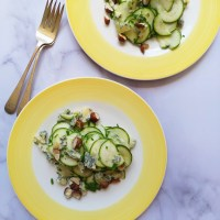 Recipe: Zucchini Salad with Toasted Hazelnuts and Bleuchâtel Cheese