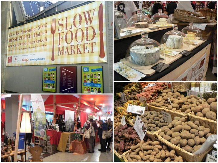 slow food market collage