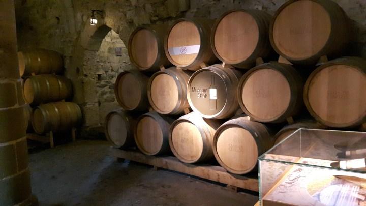 chateau de chillon - wine barrels