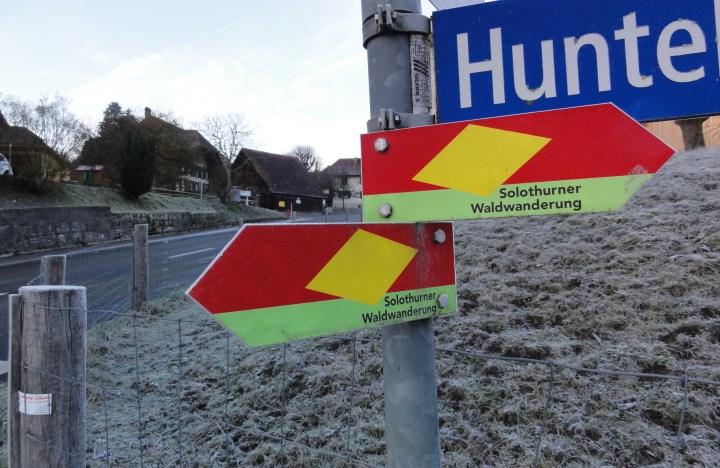 solthurner waldwandrung - sign