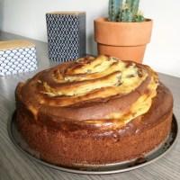 Gâteau Spirale au Chocolat et à la Crème Pâtissière