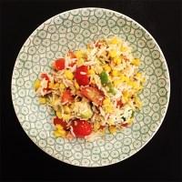 Salade de riz hivernale au thon