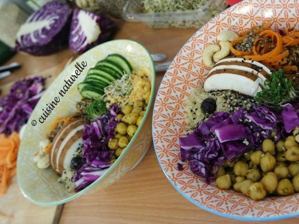 Assiettes creuses avec légumes et couleurs