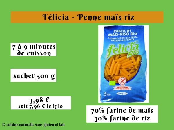 Félicia - Penne maïs riz