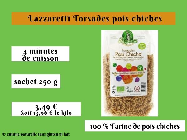 Lazzaretti Torsades pois chiches