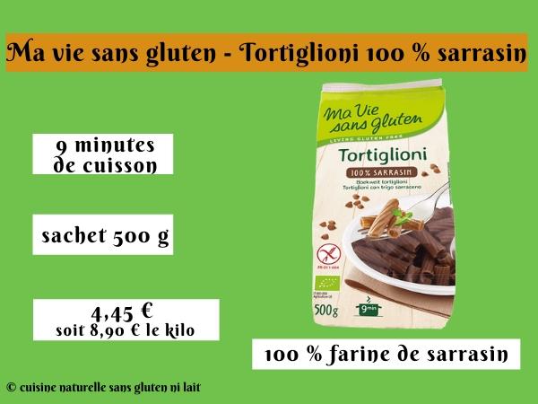 Ma vie sans gluten - Tortiglioni 100 % sarrasin
