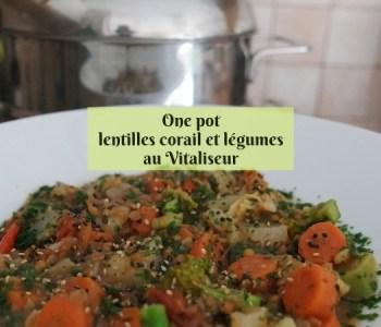 One pot lentilles corail et légumes au Vitaliseur de Marion Kaplan