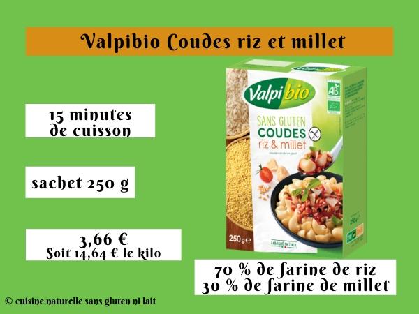 Valpibio Coudes riz et millet