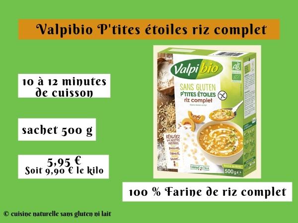 Valpibio P'tites étoiles riz complet