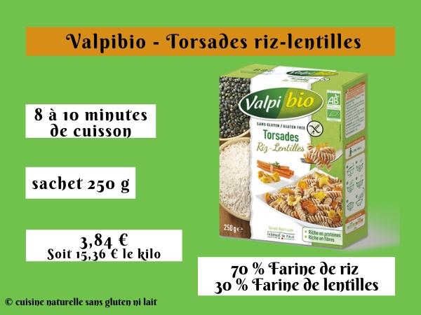 Valpibio pâtes sans gluten