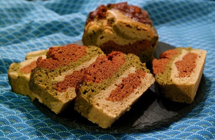 Marbré vegan sans gluten 3 couleurs choco mac matcha