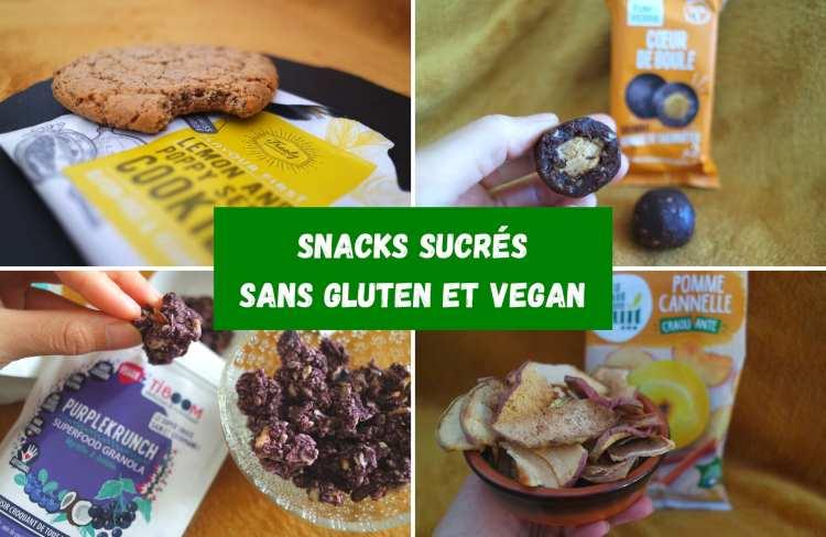 Produits maques sans gluten vegan cookies granolas