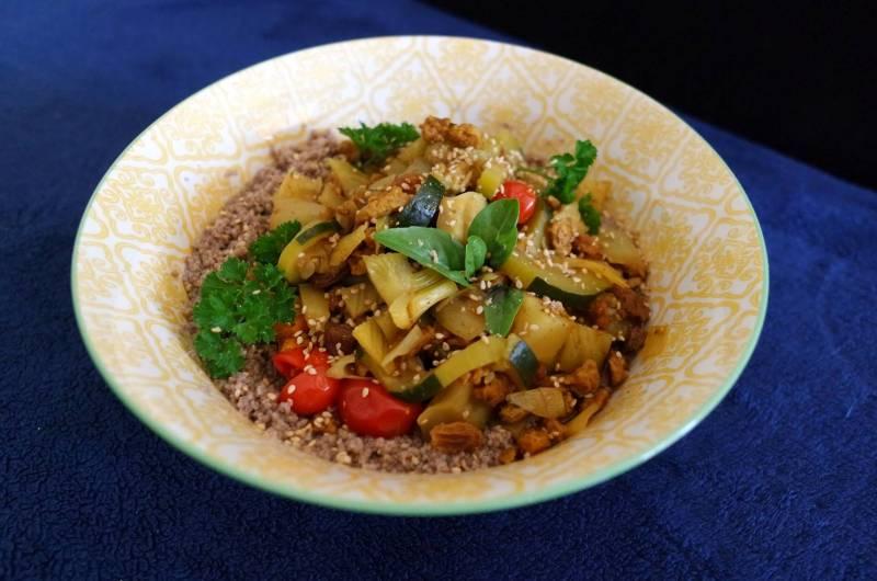 Couscous vegan et sans gluten et légumes au Vitaliseur