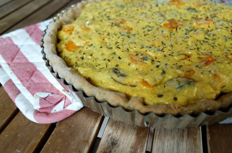 Pâte à tarte sans gluten quiche vegan