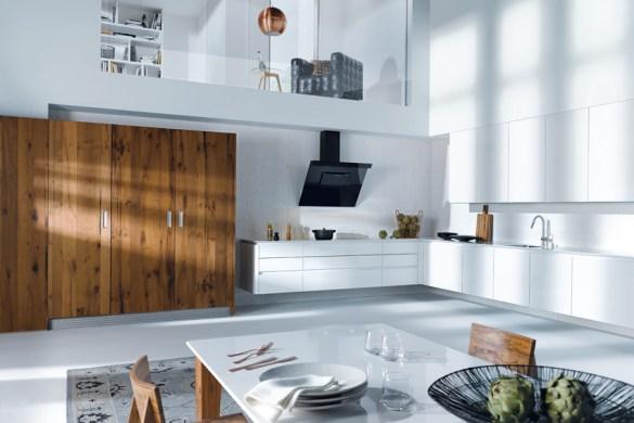 Silestone explore toutes les facettes du blanc cuisines for Changer ses portes de placard de cuisine