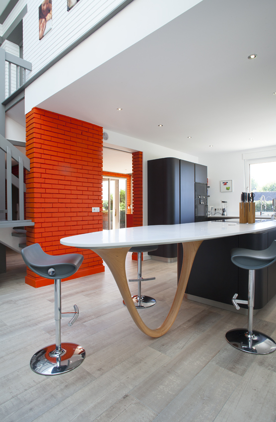 Best With Plan De Travail Cuisine Arrondi.
