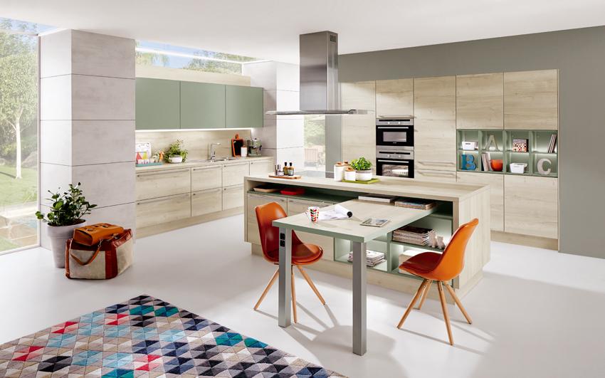 cuisine bois clair moderne