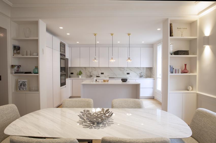 Blanche harmonie en cuisine cuisines et bains - Cuisine americaine blanche ...
