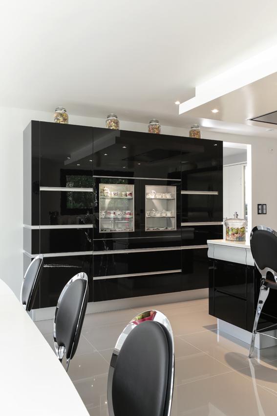façade noire cuisine