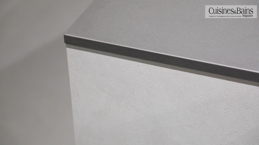 plan de travail gris ceramique