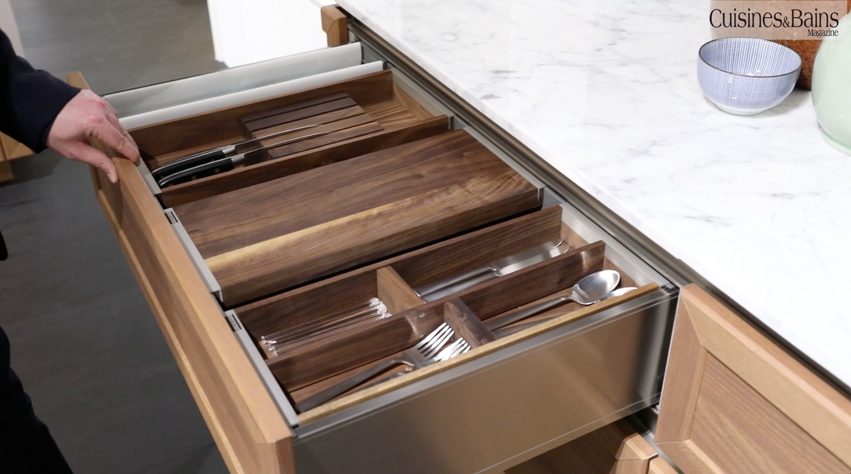 tiroir pratique cuisine bois