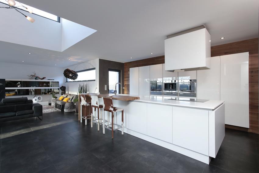 cuisine blanche bois moderne