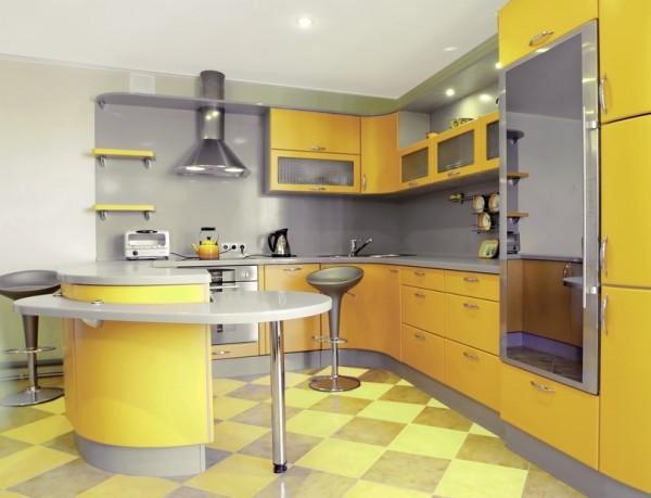 cuisine colorée jaune