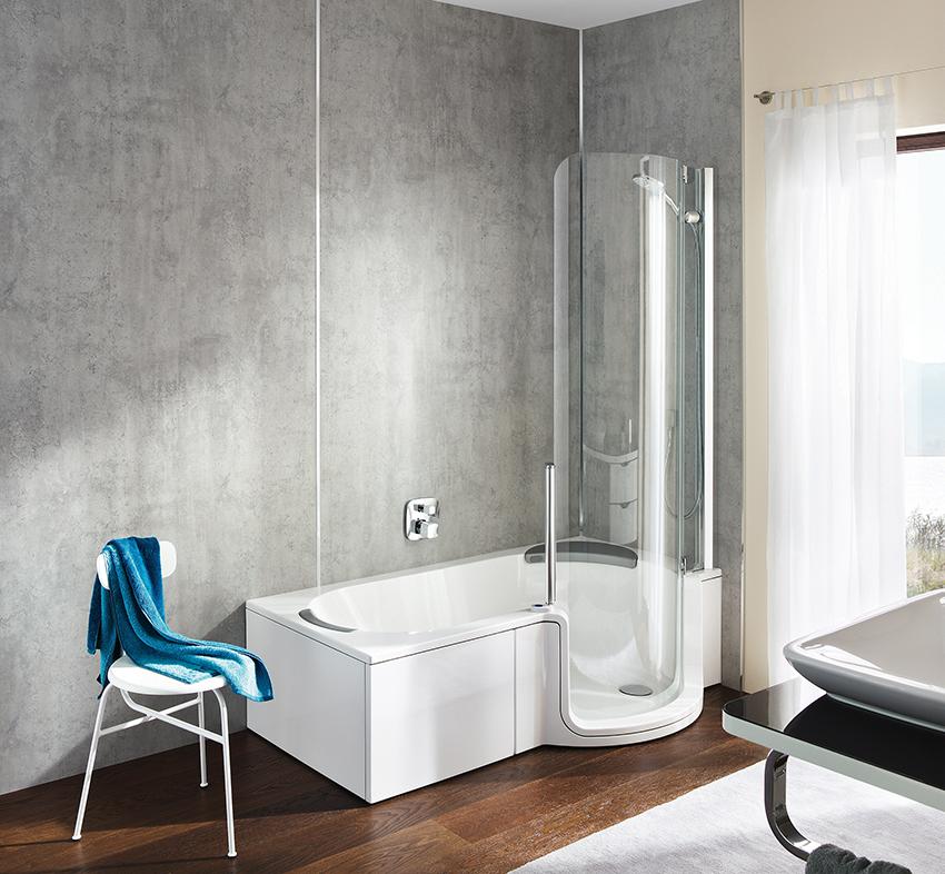 Baignoire douche le meilleur des deux choix cuisines for Baignoire et douche 2 en 1
