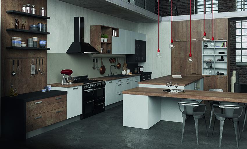 le bois sous toutes ses formes cuisines et bains. Black Bedroom Furniture Sets. Home Design Ideas