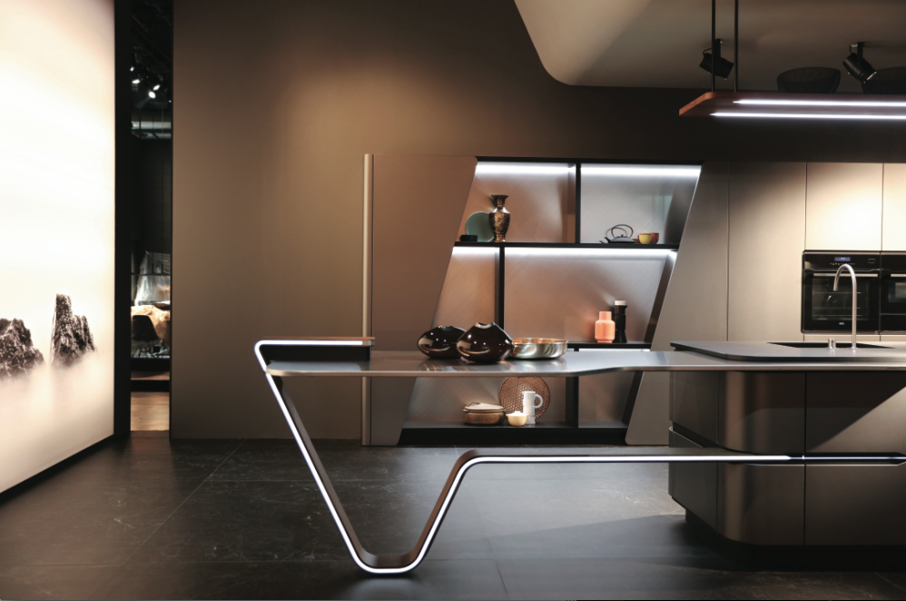 snaidero pininfarina une nouvelle vision de la cuisine cuisines et bains. Black Bedroom Furniture Sets. Home Design Ideas