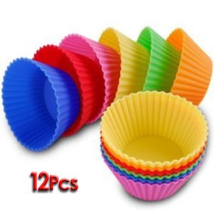 Bestofferbuy-12Pcs-Moule-En-Silicone-Pour-Muffins-Cupcake-Gteau-Rond-Et-Gele-0