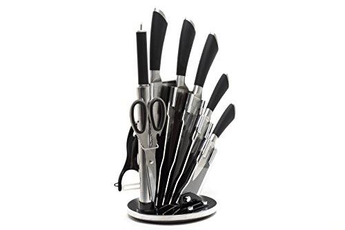 lot de couteaux de cuisine de ross henery professional 8 pi ces en acier inoxydable avec. Black Bedroom Furniture Sets. Home Design Ideas